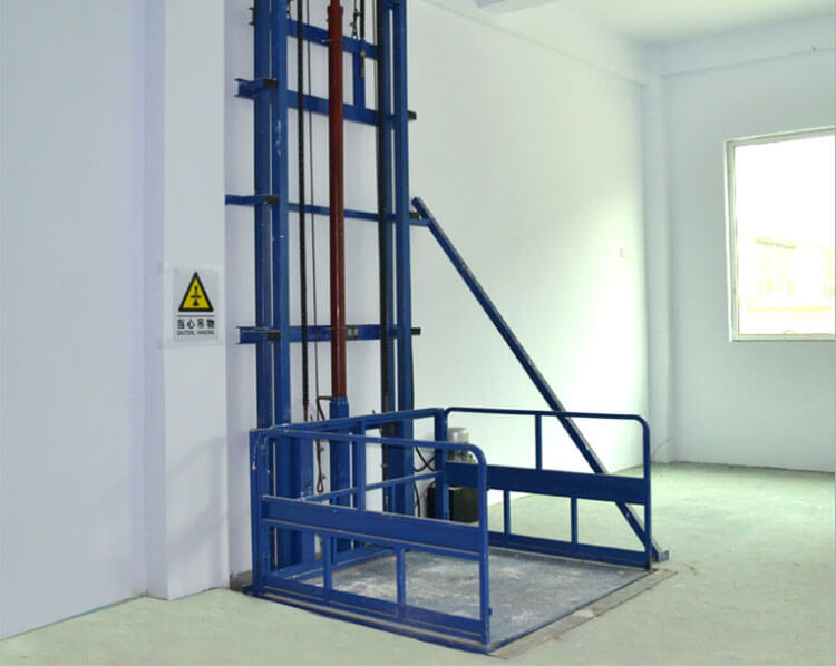 Vertical Single Guide-rail Cargo Lift