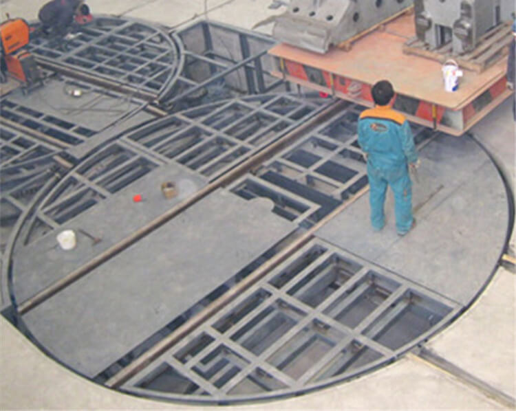 Industrial Heavy Load Rail Turntable Transfer Cart For Plant