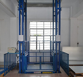 Vertical Double-Guide Rail Cargo Lift