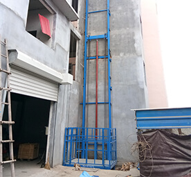 Vertical Single-Guide Rail Cargo Lift