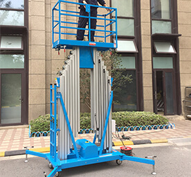 Double Mast Aluminum Alloy Lift Platform