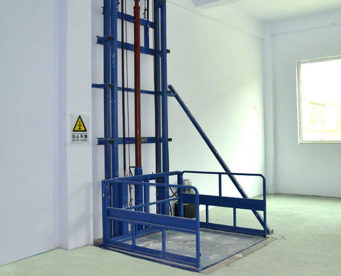How to choose a guide rail cargo lift platform